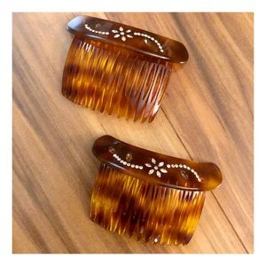 Francois Huchard Pair of Vintage Hair Combs